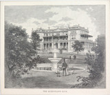 """1886 WOOD ENGRAVING """"THE QUEENSLAND CLUB"""""""