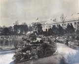 RARE 1924 BRITISH EMPIRE EXHIBITION LARGE SILVER GELATIN PHOTO. VIEW OF PAVILION