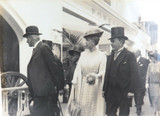 RARE 1924 BRITISH EMPIRE EXHIBITION LARGE SILVER GELATIN PHOTO QUEEN & OFFICIALS