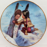 """1990 ARTAFFECTS LIMITED EDITION LARGE COLLECTORS PLATE + OUTER. """"BUNDLE UP"""""""