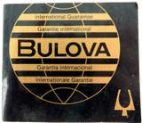 OBSOLETE 1982 BULOVA INTERNATIONAL GUARANTEE MENS WATCH.