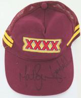 NRL / RUGBY LEAGUE. QLD XXXX SIGNED CAP. MAT ROGERS & GARY BELCHER