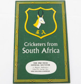 """1960 ENGLISH PRE TOUR GUIDE. """"CRICKETERS FROM SOUTH AFRICA"""" by PLAYFAIR."""