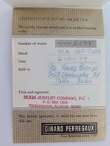 GIRARD PERREGAUX SCARCE 1978 CERTIFICATE OF ORIGIN & GUARANTEE BOOKLET