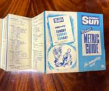 RARE 1972 BRISBANE SUNDAY SUN POCKET METRIC GUIDE. VERY COMPREHENSIVE !