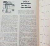 RARE 1972 CRICKET PROGRAMME. REST OF THE WORLD v SOUTHERN NSW XI, JAN 18 -19.