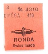 GENUINE VINTAGE RONDA / OMEGA CAL. 480 #4310 BALANCE STAFF, NOS IN PACKET.