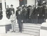 RARE 1924 BRITISH EMPIRE EXHIBITION LARGE PHOTO. AUSTRALIAN SENATOR at PAVILION