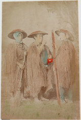 "1800s RARE JAPANESE MEIJI PERIOD ""SCHOOL of YOKOHAMA"" PHOTOGRAPH. MINO CAPES."