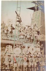 "1800s SUPER RARE JAPANESE MEIJI PERIOD ""SCHOOL of YOKOHAMA"" PHOTOGRAPH. FIREMEN"
