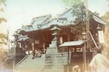 1900s RARE JAPANESE MEIJI PERIOD KARL LEWIS, YOKOHAMA PHOTOGRAPH. TEMPLE.