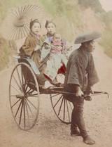 1900s RARE JAPANESE MEIJI PERIOD KARL LEWIS, YOKOHAMA PHOTOGRAPH. RICKSHAW #3