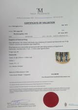 Australian Sapphire & Diamond Set 14k Yellow Gold Ring Size M Val $4340