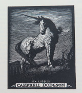 1930s EX LIBRIS BOOKPLATE FROM ORIGINAL 1924 LIONEL LINDSAY ex MANUSCRIPTS MAG.