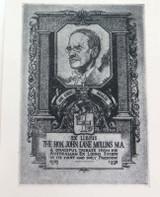 1930s EX LIBRIS PHOTO PRINT BOOKPLATE for JOHN LANE MULLINS by J B GODSON.