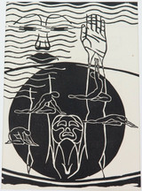 1930s RARE LARGE BOOKPLATE by LITTLE KNOWN ARTIST JOSEPH SIEBERT. EX MAGAZINE