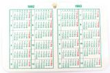 SCARCE 1992 - 1993 ROLEX CALENDAR. SUBMARINER, GMT, DATEJUST, EXPLORER ETC