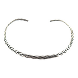 Flexible Sterling Silver Woven Plaited Neck Choker / Neck Collar 32.4g