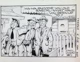 WALLY and the MAJOR AUSSIE STRIP CARTOON ORIGINAL LARGE ART WORK by CARL LYON #3