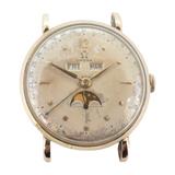 Vintage 1951 Omega 14k Gold Triple Calendar Moon Phase c.281 Watch - Ref 2473