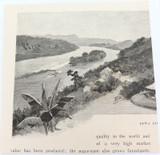 "c1886 ANTIQUE ENGRAVING BOOKPLATE, OCEANIA ""THAKAMBUA'S HOUSE"""