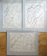"SUPER RARE !! c1863 AMERICAN CIVIL WAR SET 3 MAPS. ""SEAT of WAR"" WEEKLY DISPATCH"