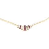 Natural Ruby & 0.50ct G Si Diamond 14k Gold Necklace 41cm Valuation $5590
