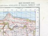 1940 WW2 LARGE ORDNANCE SURVEY MAP of BARNSTAPLE, UK