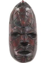 FIJIAN TURTLE HEAD CARVED WOODEN TRIBAL MASK.