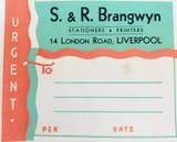 RARE ART DECO c1940s SAMUEL JONES & Co UNUSED LARGE LITHOGRAPH COMPANY LABEL #23