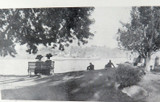 c1900 LARGE MATTED PANORAMIC PHOTO BOOKPLATE VIEW OF BRISBANE. #6