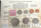 1967 NEW ZEALAND DECIMAL CHANGE OVER COIN SET. PINK LABEL.