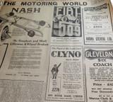 24 NOV 1926 / THE REGISTER NEWSPAPER, ADELAIDE. SUPERB MOTORING WORLD SECTION.
