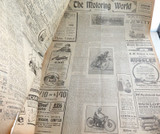 8 DEC 1926 / THE REGISTER NEWSPAPER, ADELAIDE. 4 PAGE MOTORING SECTION.
