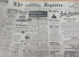 19th & 20th NOV 1926 / THE REGISTER NEWSPAPER, ADELAIDE. 2 EDITIONS
