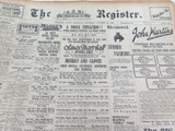21 OCT 1926 THE REGISTER NEWSPAPER, ADELAIDE. SUPERB FULL PAGE LADIES FASHION.