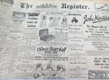 1 NOV 1926 THE REGISTER NEWSPAPER, ADELAIDE. MELBOURNE CUP REVIEW. RARE GMH ADVT