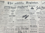 10 NOV 1926 THE REGISTER NEWSPAPER, ADELAIDE. EXCELLENT MOTORING WORLD SECTION.