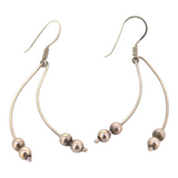 Vintage Pair of Sterling Silver Dangle Earrings with Ball Detail 3g