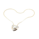 Vintage Mabe Pearl & Diamond Set 14k Gold Pendant & Chain 17.10g Val $5630