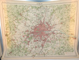 1922 SCARCE LARGE MAP of LONDON & SURRONDS. GREAT CONDITION.