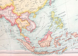 1922 SCARCE LARGE MAP of ASIA - POLITICAL. GREAT CONDITION.