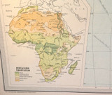 1922 SCARCE LARGE MAP of AFRICA - POLITICAL. GREAT CONDITION.