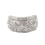 1.06 cttw Brilliant Cut Diamond 14k White Gold Ring Size U Val $4730