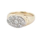 Vintage Heavy 14K Yellow Gold 0.79ct Diamond Set Dress Ring 10g Size S Val $4460