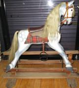 QUALITY VINTAGE ROCKING HORSE ex ESTATE.