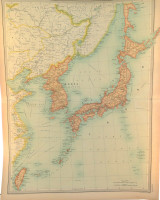 """1922 SUPERB SCARCE LARGE MAP of """"JAPANESE EMPIRE - POLITICAL"""". VERY NICE!"""