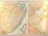 """1922 SUPERB SCARCE LARGE MAP of """"EASTERN CHINA - POLITICAL"""". VERY NICE!"""