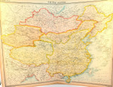 """1922 SUPERB SCARCE LARGE MAP of """"CHINA - POLITICAL"""". VERY NICE!"""