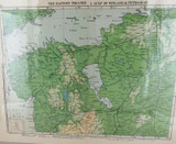 WW1 INTERESTING MAP / THE EASTERN THEATRE I. GULF of FINLAND to PETROGRAD.